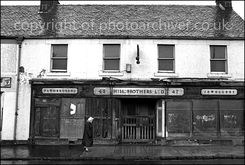 The old Pawnbrokers shop in Barrhead.